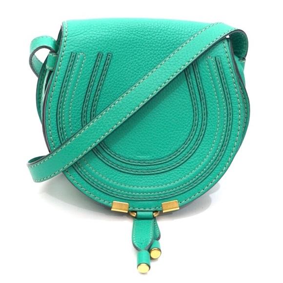 Chloe Bags | Mini Marcie Jade Green Leather
